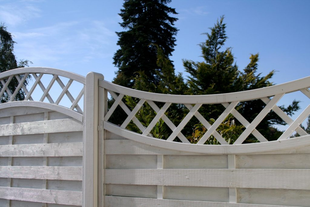 white fence with design